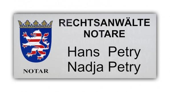 Notare und Rechtsanwälte - Kanzleischild-01